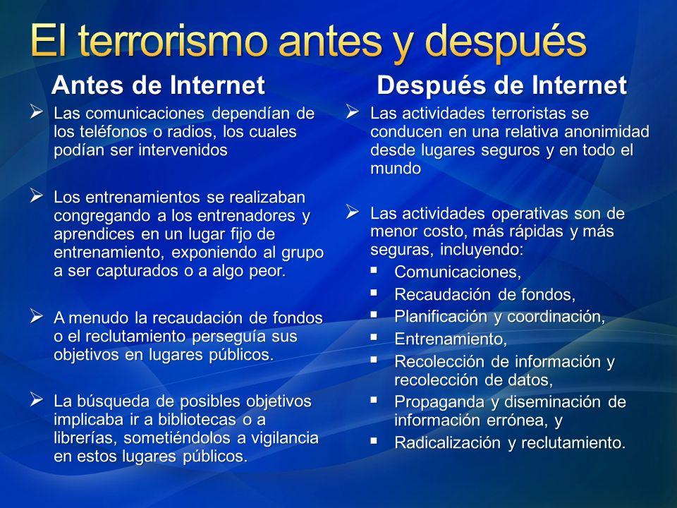 El terrorismo antes y después