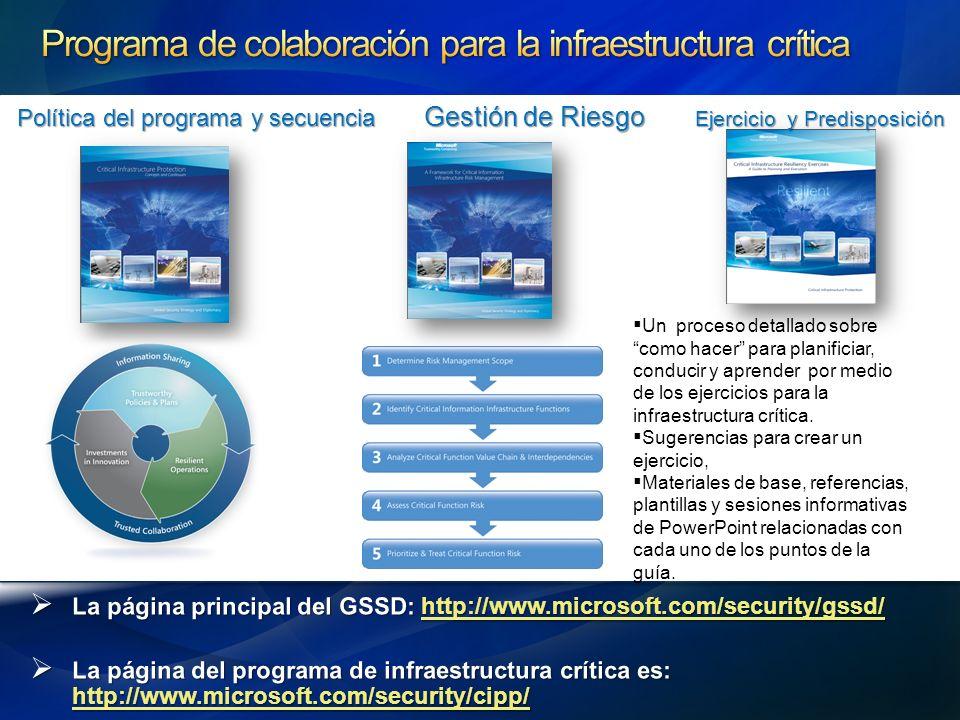 Programa de colaboración para la infraestructura crítica
