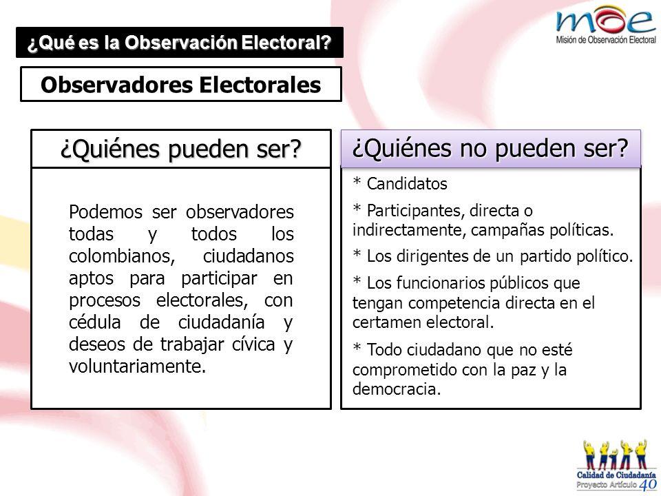 ¿Qué es la Observación Electoral Observadores Electorales