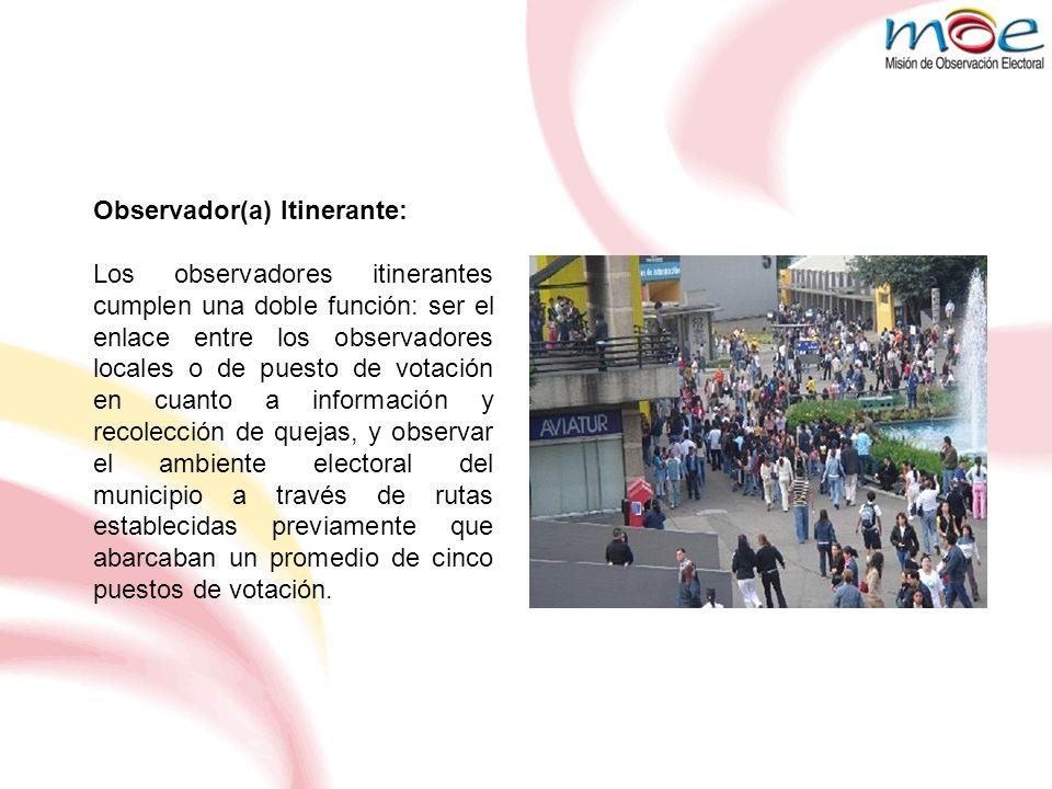 Observador(a) Itinerante: