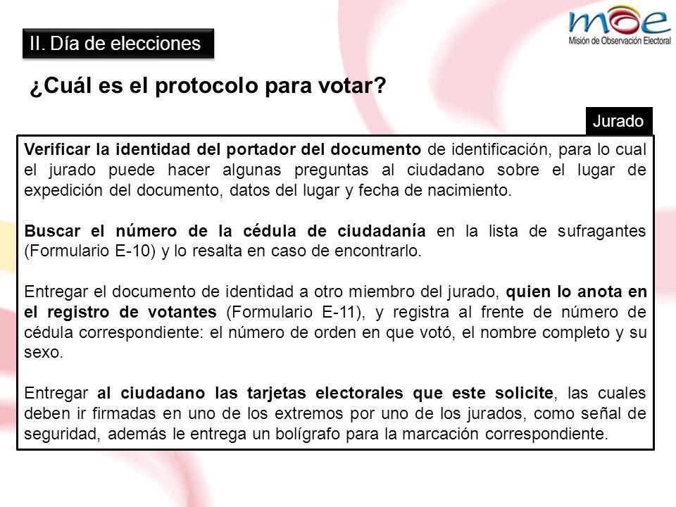 ¿Cuál es el protocolo para votar