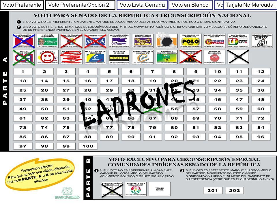 Ladrones Este es!! Voto Preferente Voto Preferente Opción 2