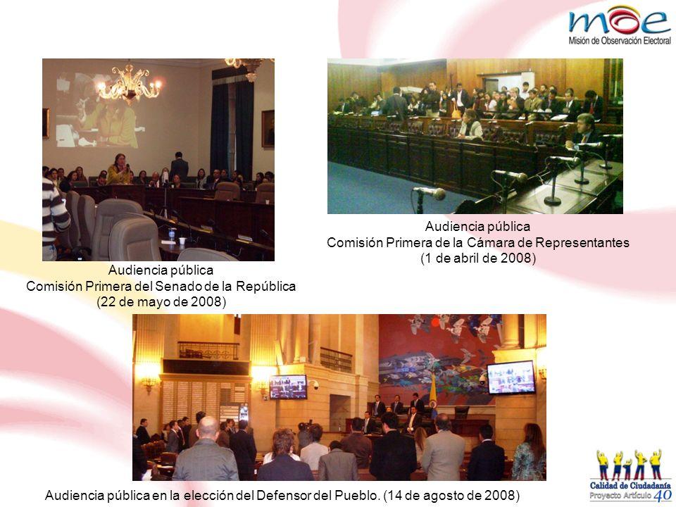 Comisión Primera de la Cámara de Representantes (1 de abril de 2008)