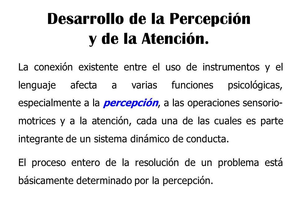 Desarrollo de la Percepción y de la Atención.