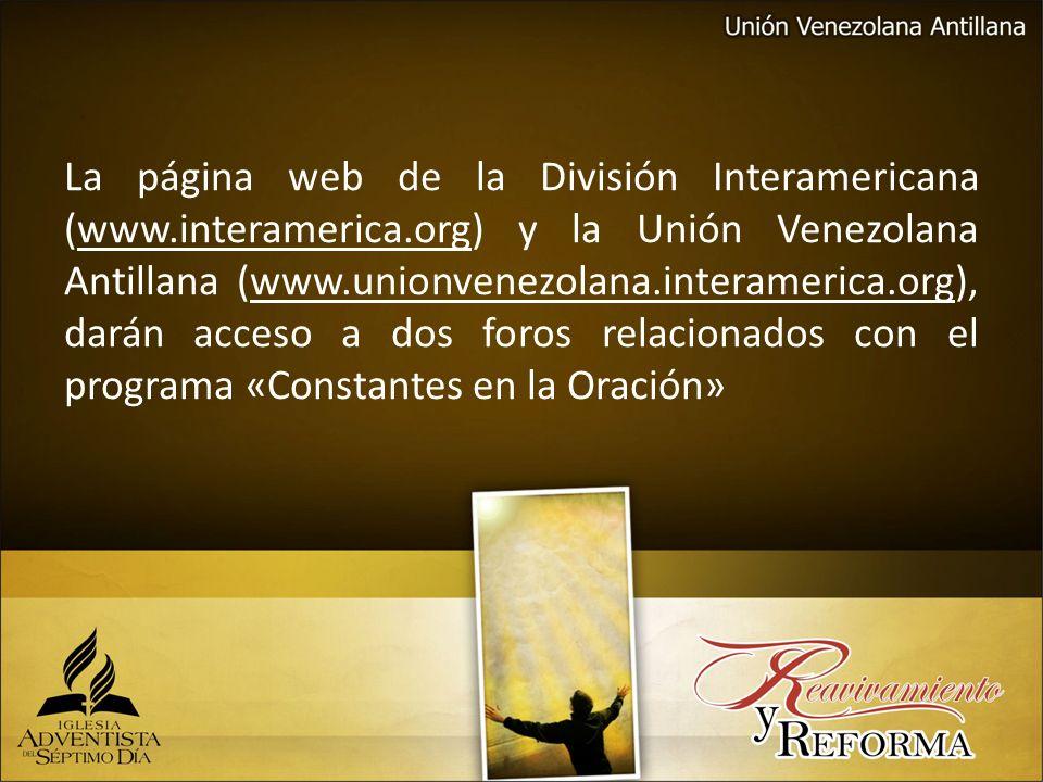 La página web de la División Interamericana (www. interamerica