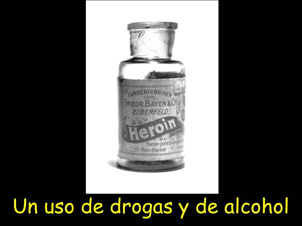 Un uso de drogas y de alcohol