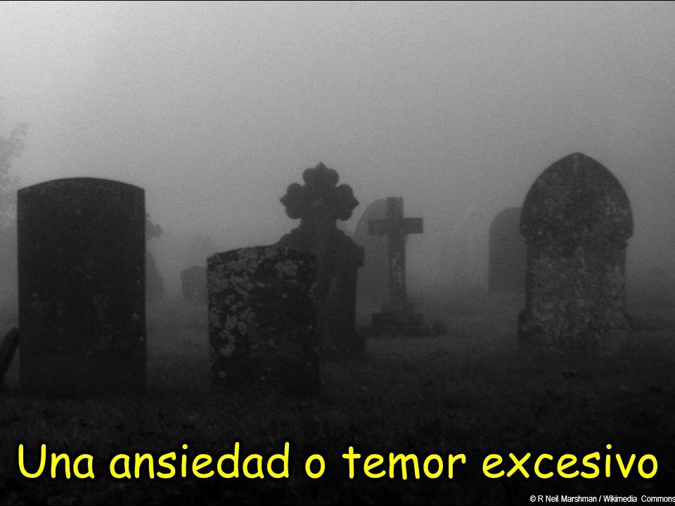 Una ansiedad o temor excesivo