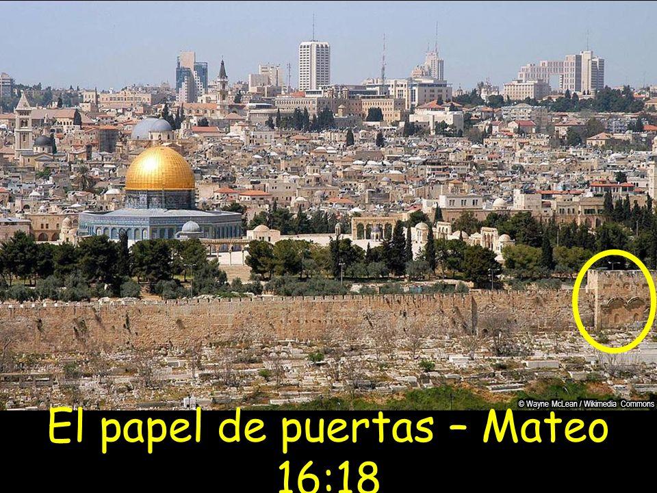 El papel de puertas – Mateo 16:18