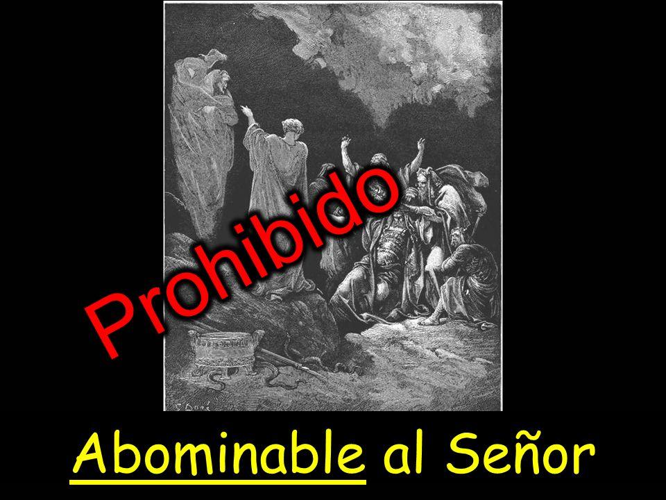 Prohibido Abominable al Señor