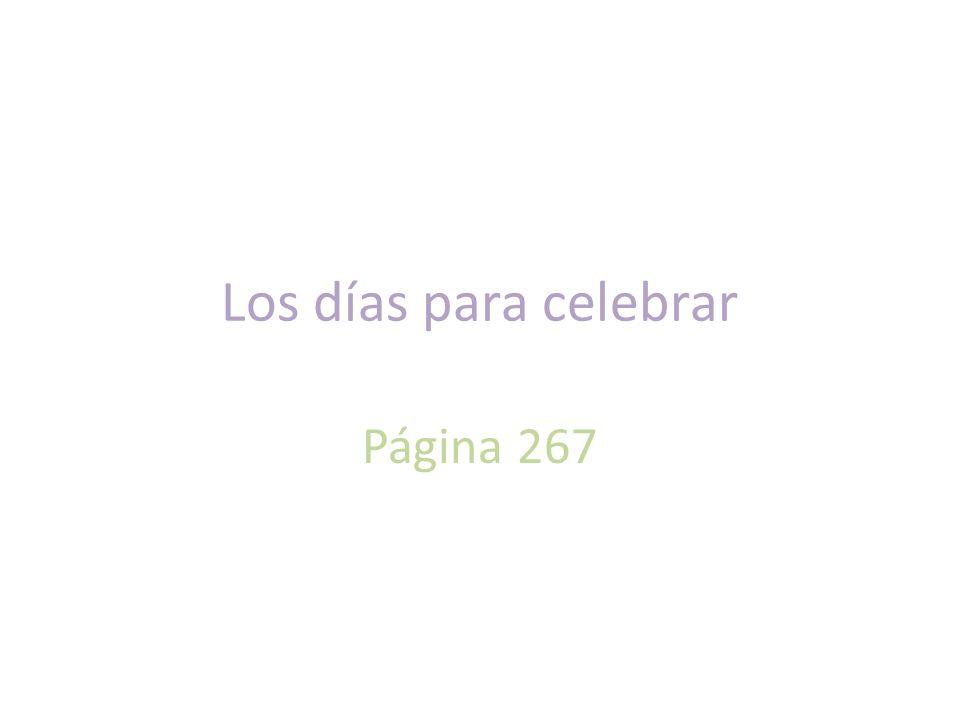 Los días para celebrar Página 267