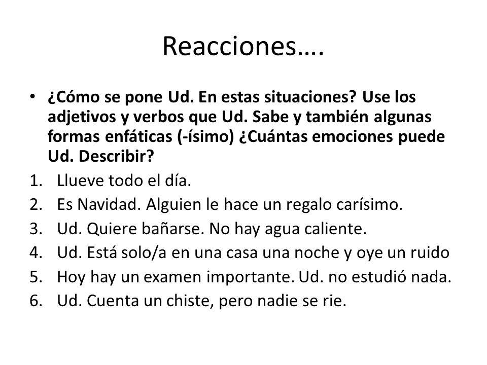 Reacciones….
