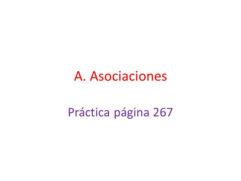 A. Asociaciones Práctica página 267