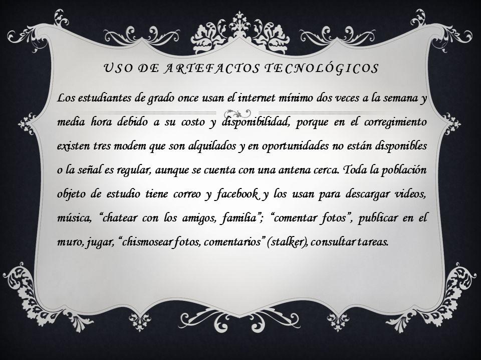USO DE ARTEFACTOS TECNOLÓGICOS