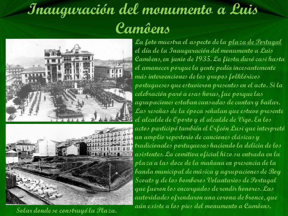 Inauguración del monumento a Luis Camôens