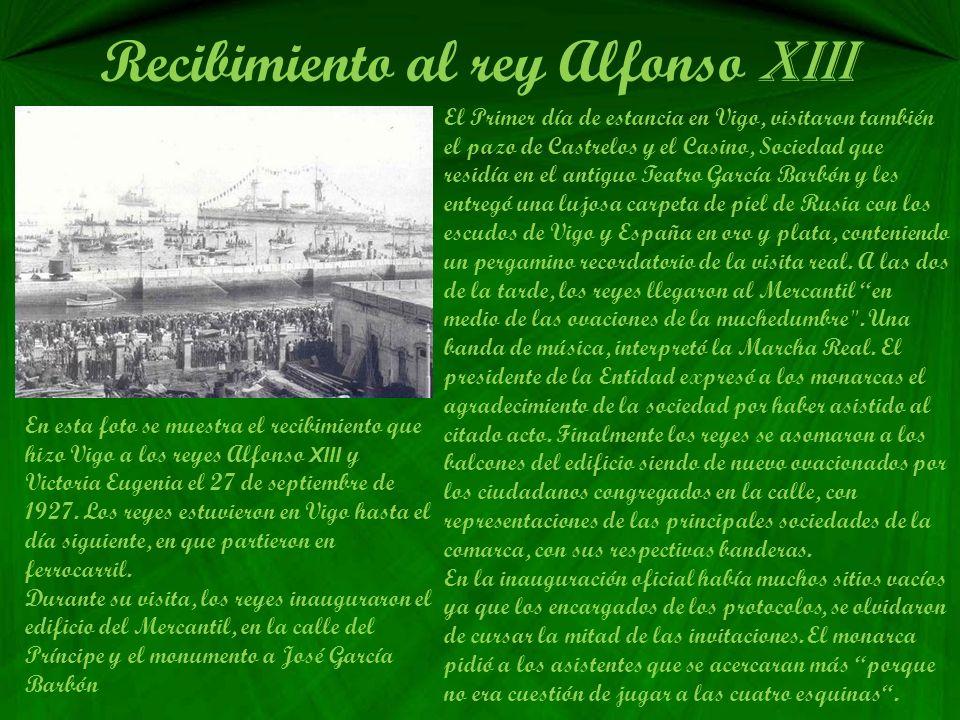 Recibimiento al rey Alfonso XIII