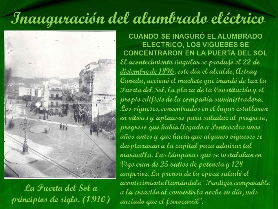 Inauguración del alumbrado eléctrico