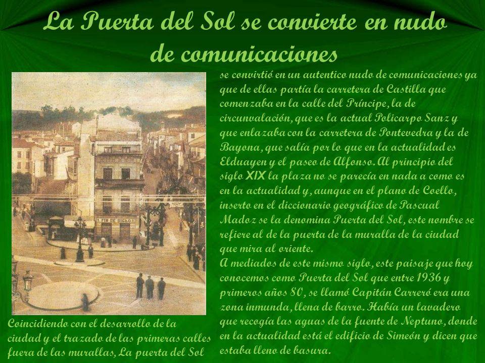 La Puerta del Sol se convierte en nudo de comunicaciones