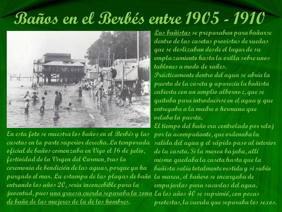 Baños en el Berbés entre 1905 - 1910