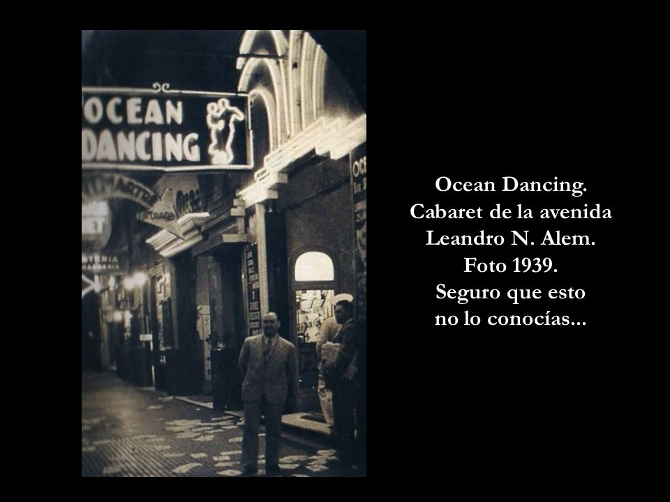 Cabaret de la avenida Leandro N. Alem.