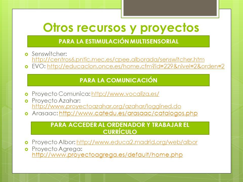 Otros recursos y proyectos