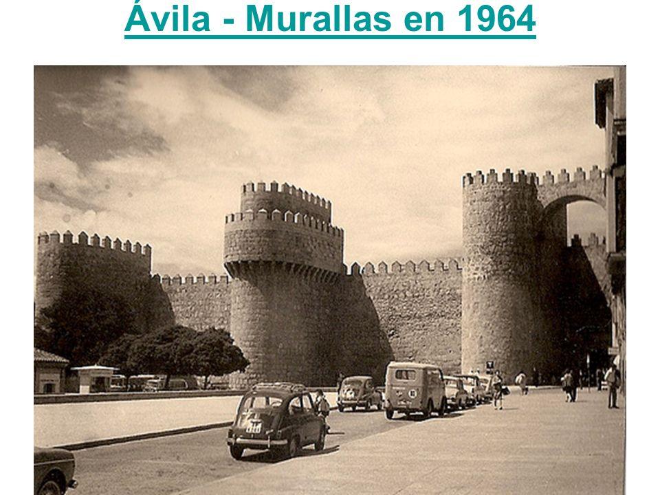 Ávila - Murallas en 1964