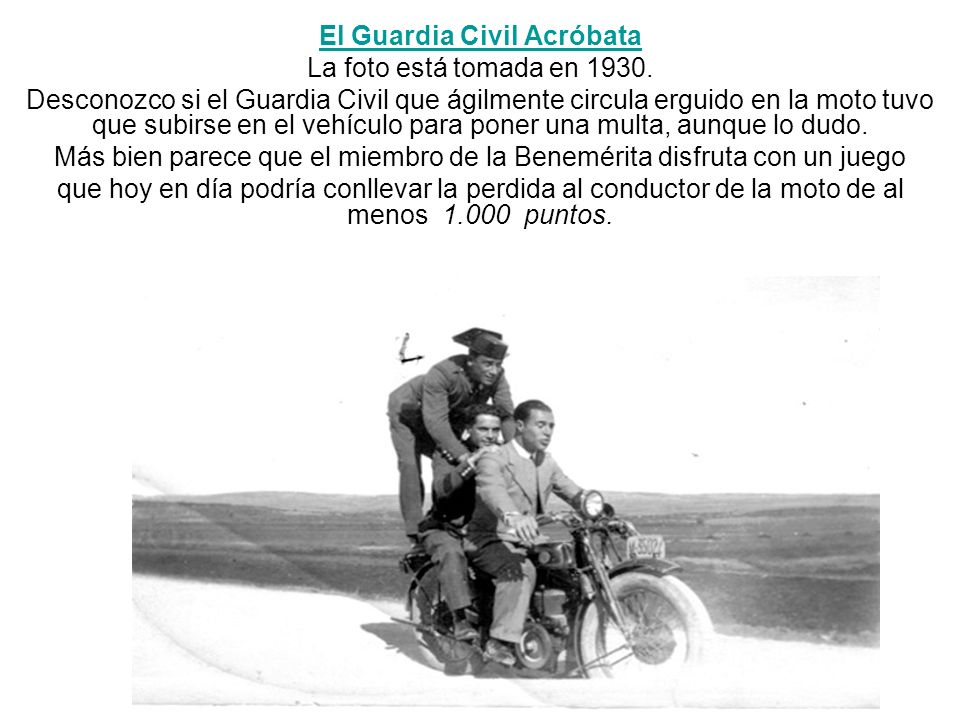 El Guardia Civil Acróbata