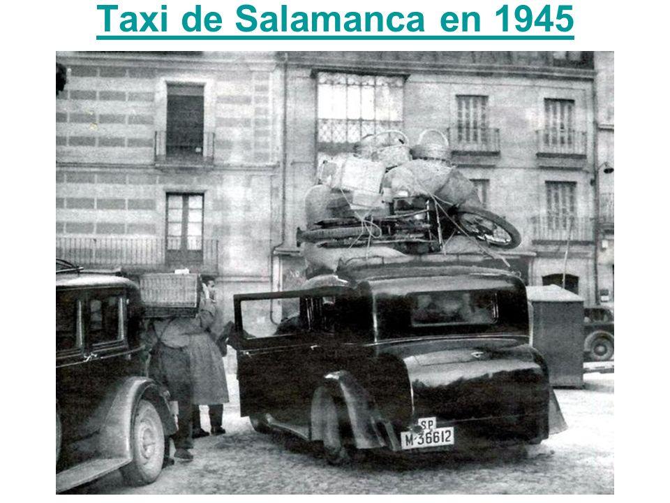 Taxi de Salamanca en 1945