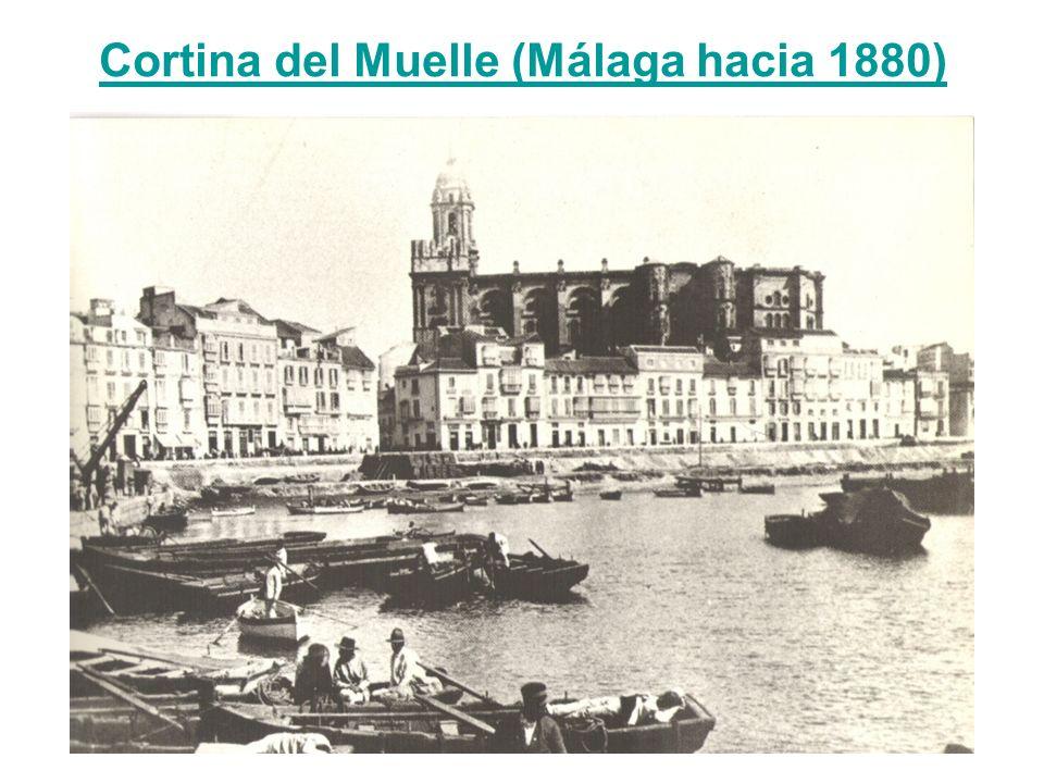Cortina del Muelle (Málaga hacia 1880)