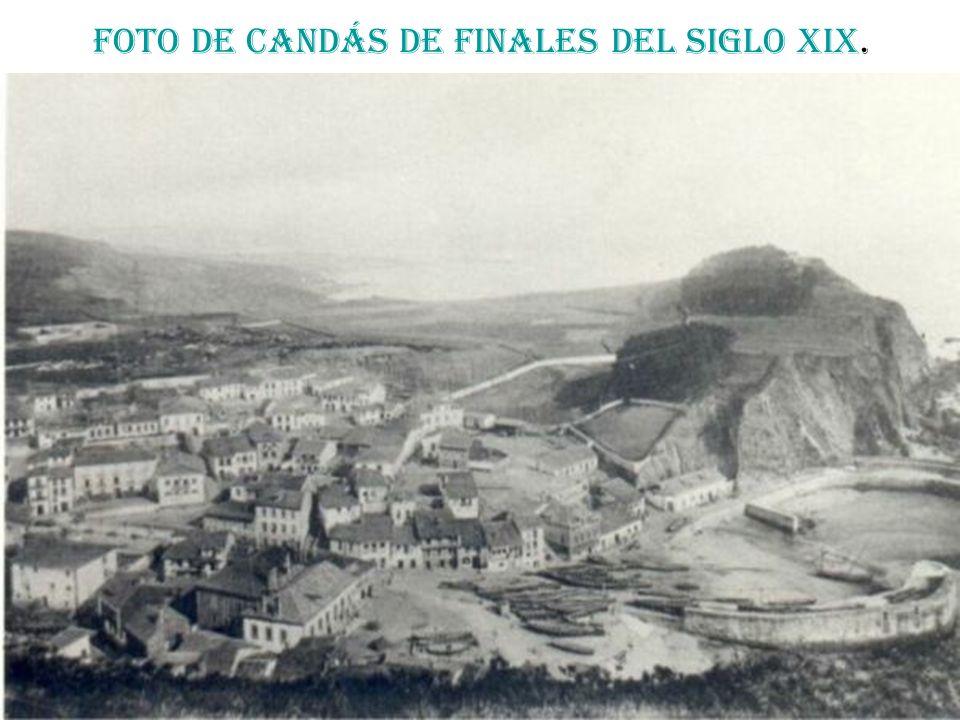 Foto de Candás de finales del siglo XIX.