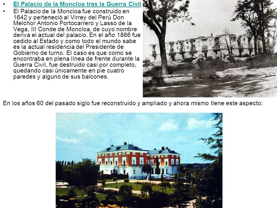 El Palacio de la Moncloa tras la Guerra Civil