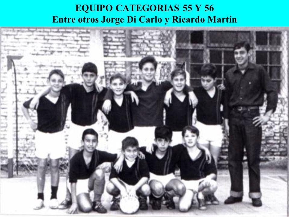 EQUIPO CATEGORIAS 55 Y 56 Entre otros Jorge Di Carlo y Ricardo Martín