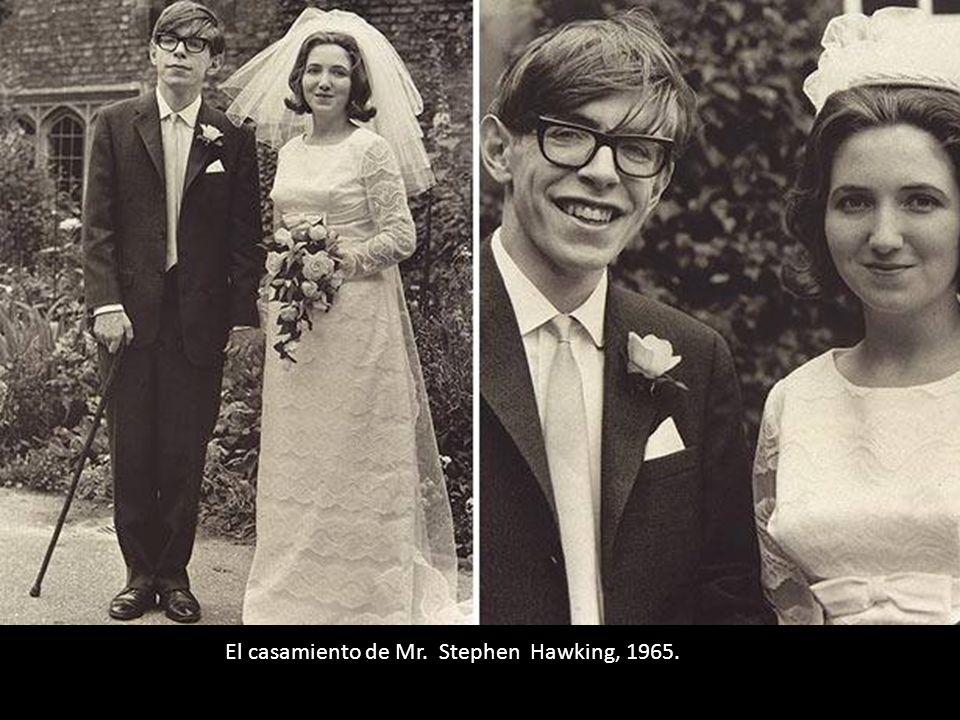El casamiento de Mr. Stephen Hawking, 1965.