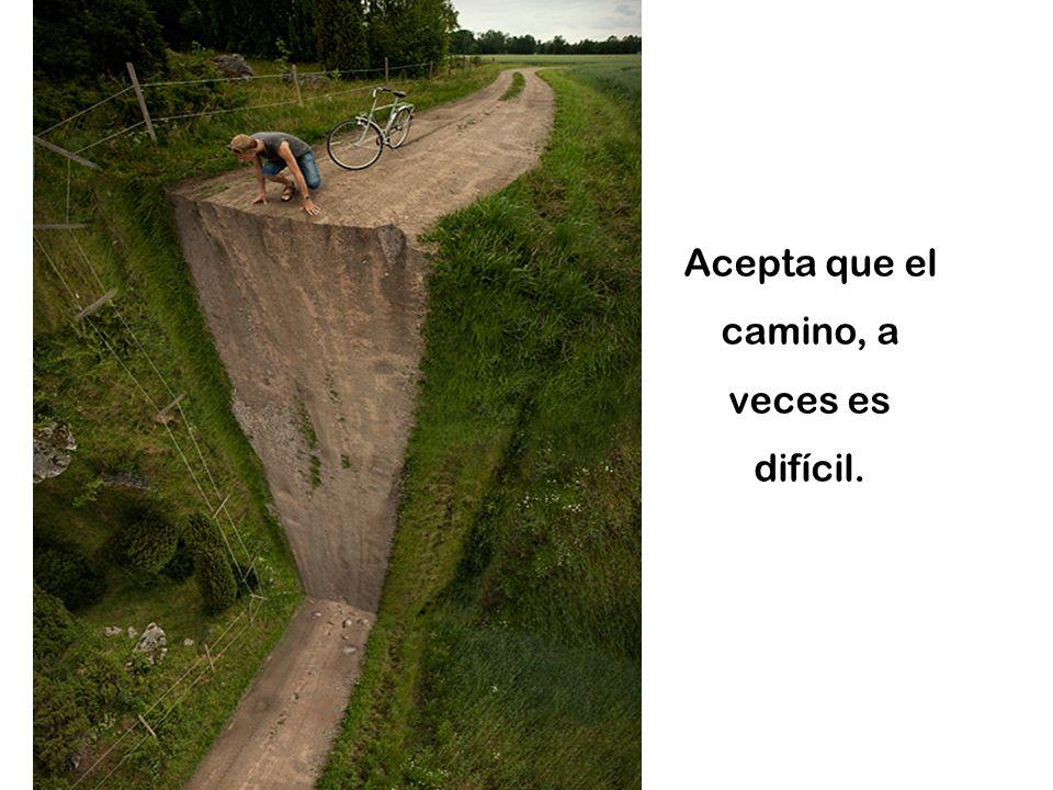 Acepta que el camino, a veces es difícil.