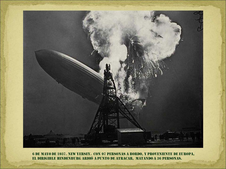 6 DE MAYO DE 1937. NEW YERSEY.