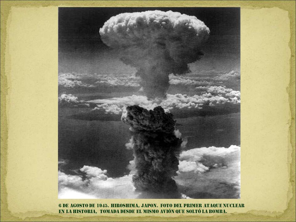 6 DE AGOSTO DE 1945. HIROSHIMA, JAPON