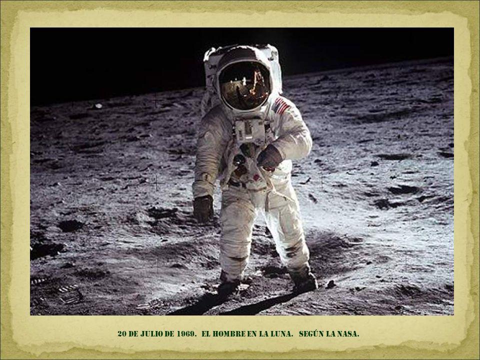 20 de julio DE 1969. el hombre en la luna. SEGÚN LA NASA.
