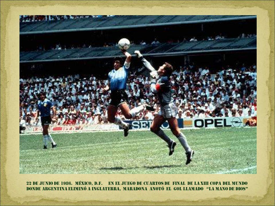 22 de junio DE 1986. México, D.F.