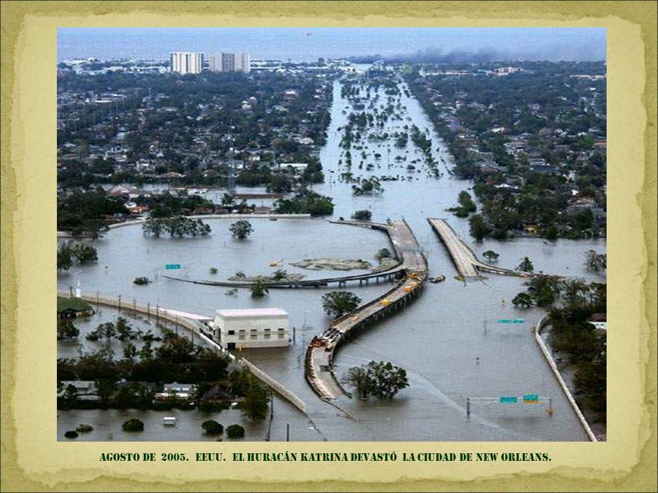 Agosto DE 2005. EEUU. el huracán katrina devastó LA CIUDAD DE new Orleans.