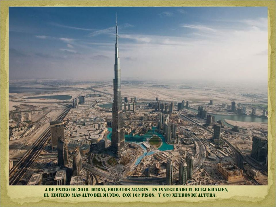 4 DE ENERO DE 2010. DUBAI, EMIRATOS ARABES