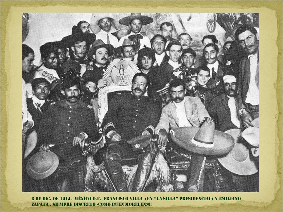 6 de DIC. DE 1914. MÉXICO d.f.