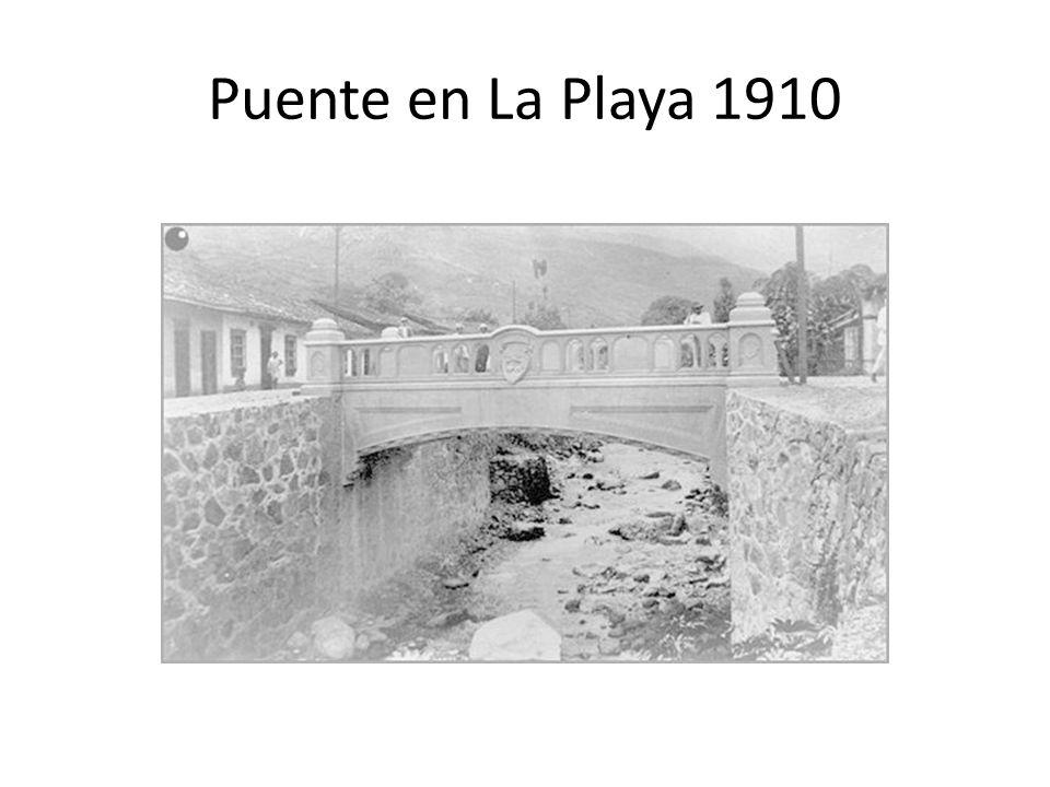 Puente en La Playa 1910