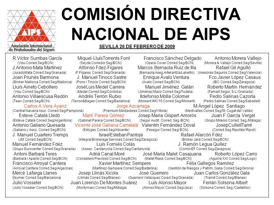 COMISIÓN DIRECTIVA NACIONAL DE AIPS SEVILLA 26 DE FEBRERO DE 2009