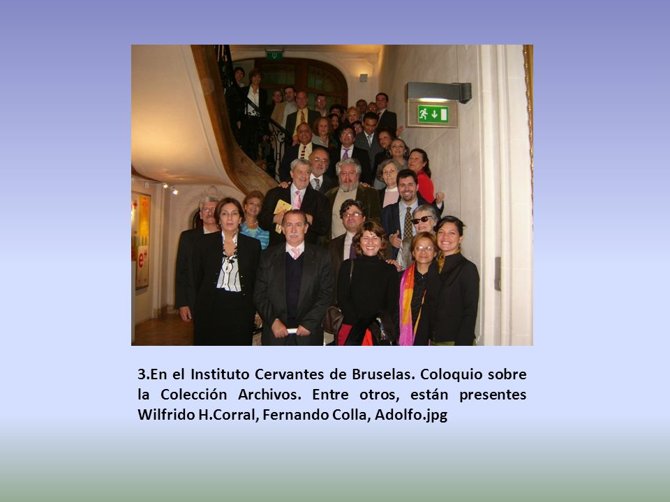 3. En el Instituto Cervantes de Bruselas