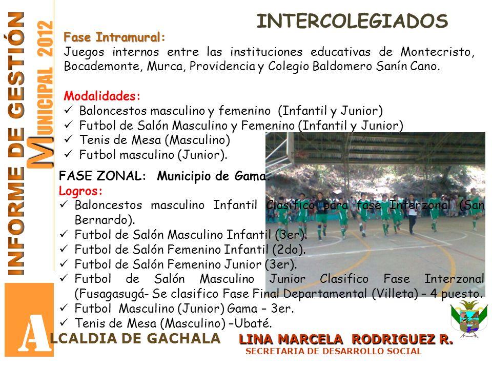 A MUNICIPAL 2012 INFORME DE GESTIÓN INTERCOLEGIADOS