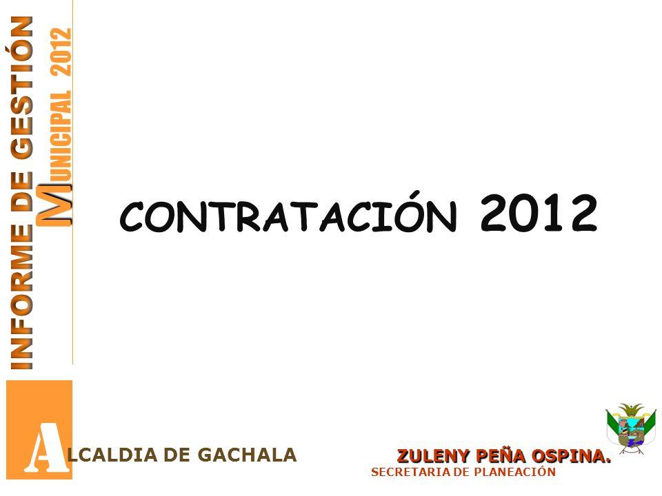 A MUNICIPAL 2012 contratación 2012 INFORME DE GESTIÓN