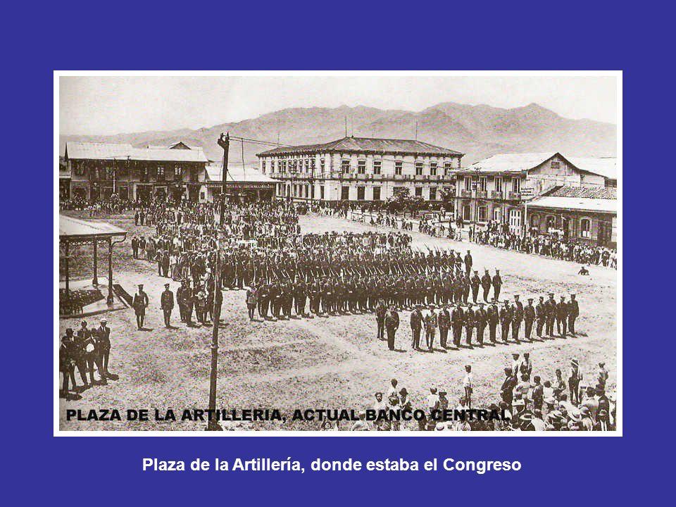 Plaza de la Artillería, donde estaba el Congreso
