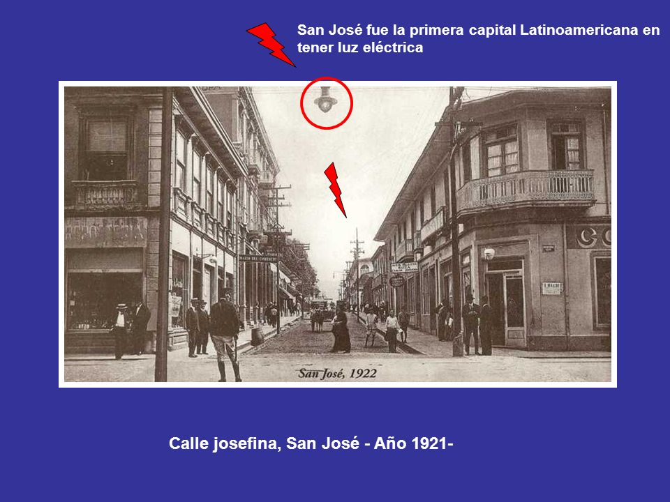 Calle josefina, San José - Año 1921-