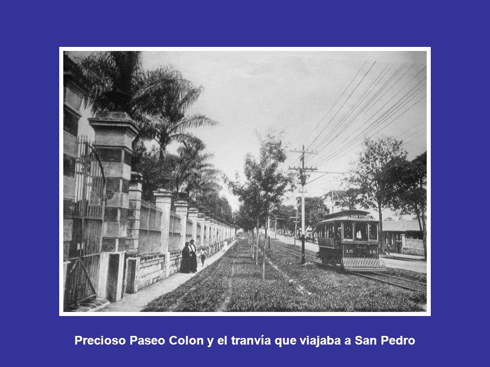 Precioso Paseo Colon y el tranvía que viajaba a San Pedro