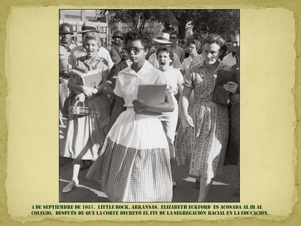 4 DE SEPTIEMBRE DE 1957. LITTLE Rock, Arkansas