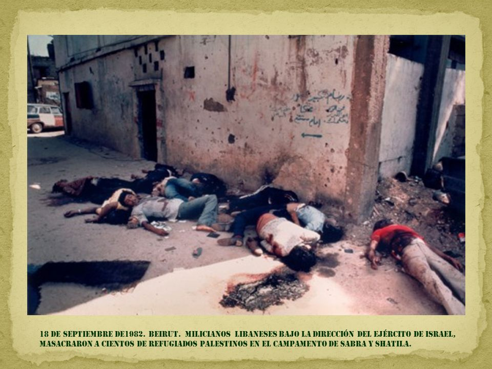 18 de septiembre DE1982. BEIRUT